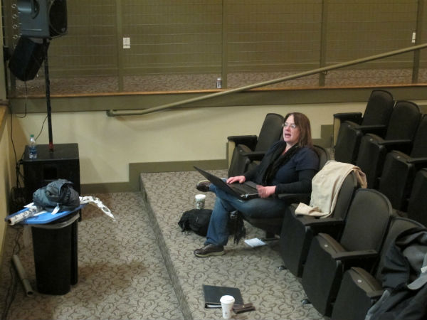 Director Cheryl Snodgrass has come in from Chicago to oversee the reading. She specializes in working with new plays.