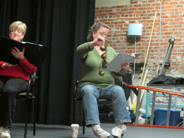 """""""Klaus"""" is heavy on special effects, which are hard to do in a staged reading. So stage manager Melissa Kennedy will be onstage handling many of the sound effects, much like the narrator in a radio play."""