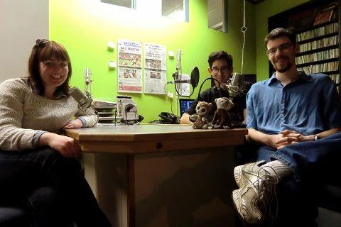 Caitlin Bancroft, Dave Matsui and Walter Lutsch of Falcon Radio Theatre. Photo courtesy Falcon Radio Theatre.