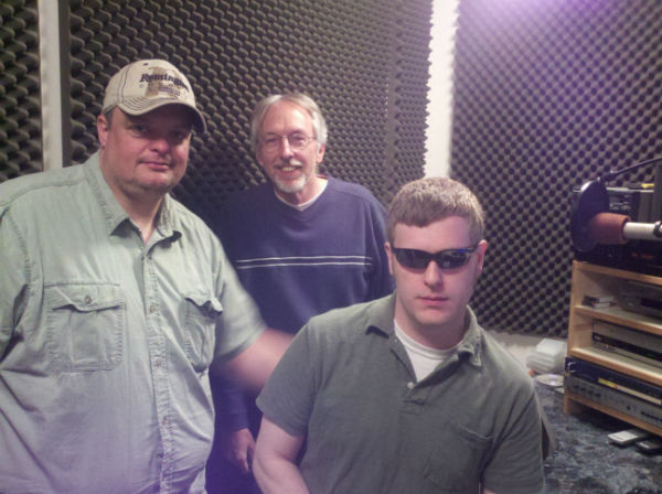 We later finished up with voiceover work in the studio. From left: Chad Snyder, Hank Ebert and Kevin McAlexander.