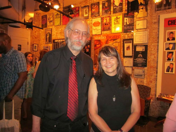 Playwright Dwayne Yancey with director Rose Bonczek after the show.