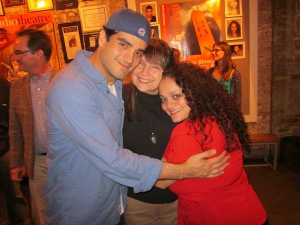 Barefoot artist director Francisco Solorzano with director Rose Bonczek and actress.