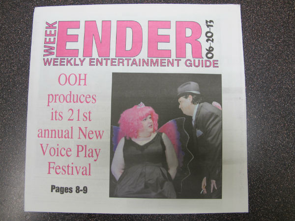 The festival was the cover story of the Martinsburg Journal's entertainment section, with a photo from my show as the main image.