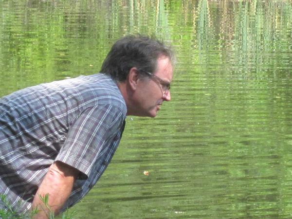 Mickey Ryan, glad he's not the one whose head will be going into the pond...