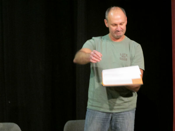 Squirrel is the creepy boyfriend of the cousin that 14-year-old Larsen is now living with. Here, Squirrel (played by James Honaker) sets fire to one of LInda's letters to her daughter so the girl doesn't know the mom is trying to contact her.