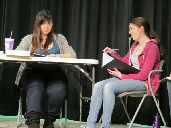 Kristin, the new school prnicipal (played by Kelly Anglim) counsels Larsen, a troublemaking high school freshman -- and the daughter of the former softball star. (Emma Sala.) Baseball fans will recognize the name Larsen from Don Larsen, who famously pitched a perfect game in the 1956 World Series. That's who the girl was named after.