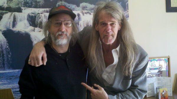 Playwright Dwayne Yancey with The Reverend Billy C. Wirtz.