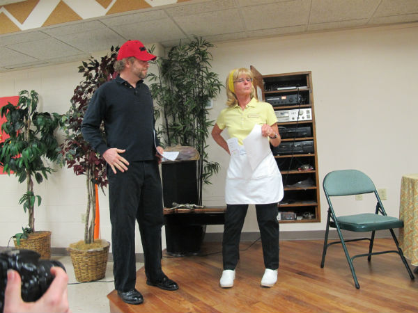 The devil (Blake Lipscomb) shows up at an out-of-the-way diner, hoping to make a business proposition to the Almighty.