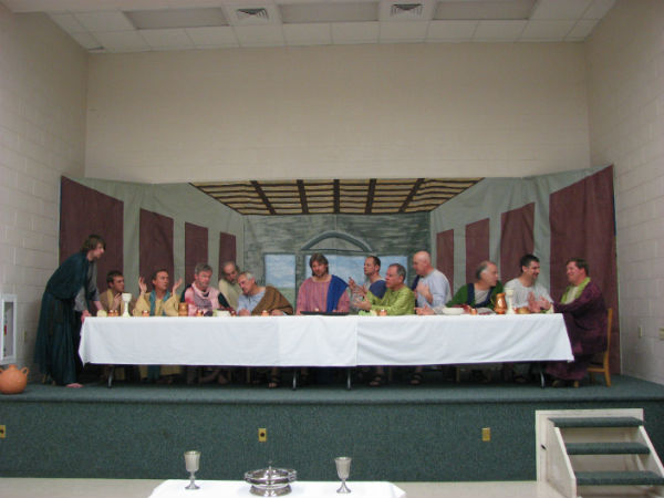 """The Last Supper"" at Fincastle United Methodist Church in 2010."