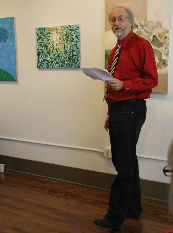 A rare shot of the playwright performing his own work. Photo by Heather Yvonne Brush