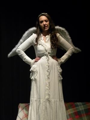 Lindsey Talbott as a somewhat sassy angel.