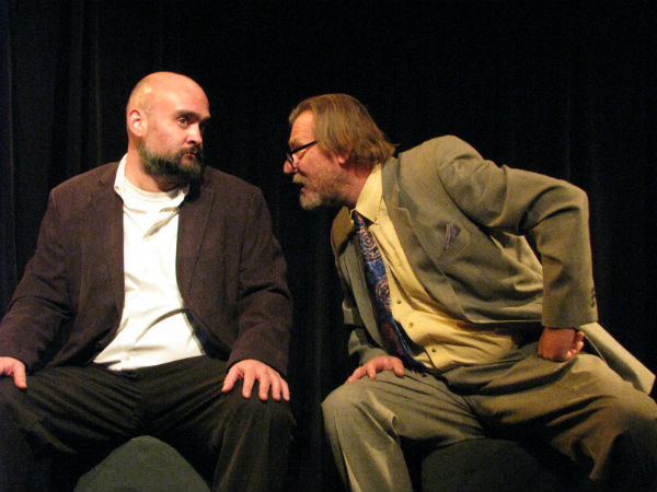 JJ Suffron, who played the political consultant, and Neil Fauloconbridge who portrayed Prof. Thompson.
