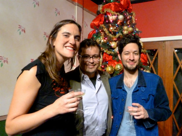 Sumi Folz, director Edgar Pablos, Andres Solorzano
