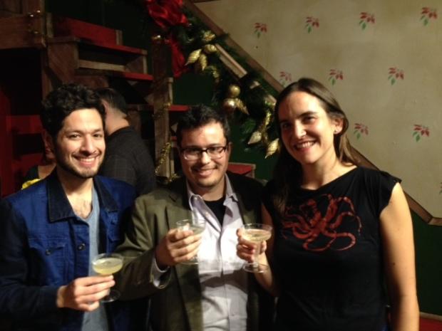 Andres Solorzano, director Edgar Pablos, Sumi Folz,