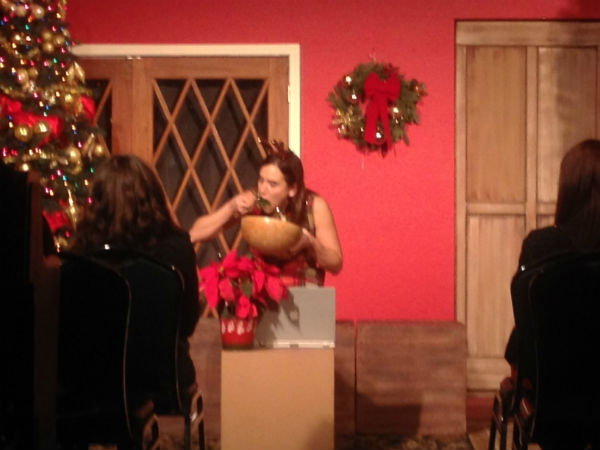 And, yeah, the money shot. In at least one show, she really did eat a poinsettia. Other times, it was red cabbage playing the role of poinsettia.