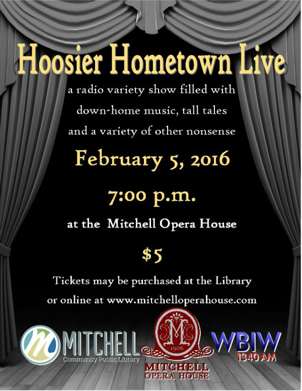 The poster for Hoosier Hometown Live.