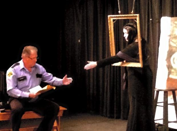 The Mona Lisa comes alive for the night security guard.