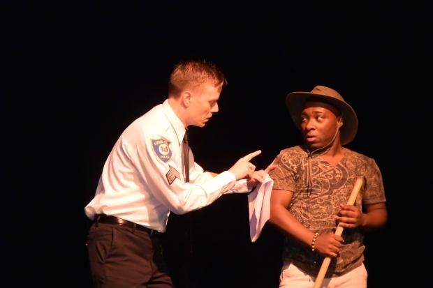 More interrogation. Photo by Susan K.