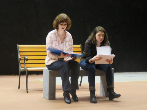 Sigh. Nothing ever works out as planned. Dee Dee (Kelli Hobson) and Cee Cee (Emma Sala) contemplate what went wrong.