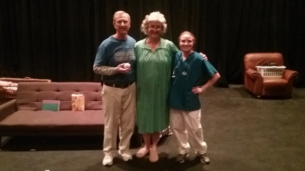 George Piasecki (Bert), Sally (Stephanie Bachman) and Kimberly King (nurse).